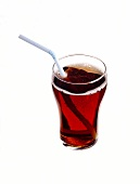 A Glass of Coke with a Straw