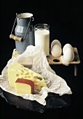 Eggs and Cheese; Milk Still Life