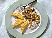 Polenta au gratin with Mushrooms