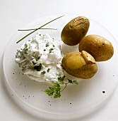 Potatoes in their Skins with Herb Quark