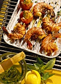 Grilled Shrimp with Herb Oil