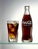 Glass and Bottle of Coca-Cola