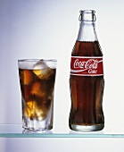 Bottle and Glass of Coca-Cola