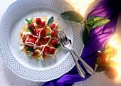 Dessert of Fresh Berries with Mango Sauce