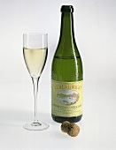 Glass and bottle of Prosecco Collalbrigo