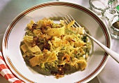 Viennese Fleckerl Noodles with Cabbage
