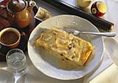 Viennese cream strudel