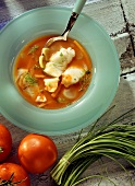 Tomato Soup with Haddock & Vermouth