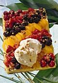 Crostata alla frutta (Obstkuchen mit Krokant, Italien)