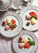 Strawberry Mousse & Marzipan Mousse