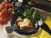 Raclette with Hamburgers & Tomatoes