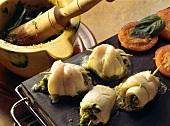 Plaice Stuffing with Pesto Stuffing