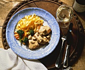 Escalope with Mushroom-Cream Sauce