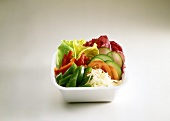 Small Takeout Salad with Raw Veggies