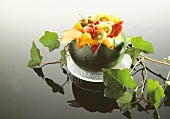 Fresh Fruit Salad in a Melon Bowl