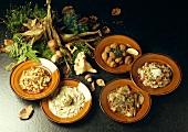 Five Assorted Mushroom Dishes