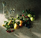 Fruit Still Life with Clear Fruit Brandy