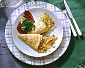 Crepes with Vegetable Filling