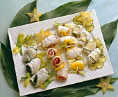 Assorted stuffed Fish Rolls