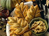 Bread Leaves with Cep Butter