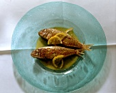 Triglie alla siciliana (red mullet with lemon, Italy)