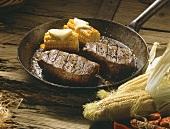 Steak in a Frying Pan