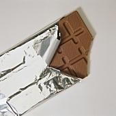 Angebrochene Schokolade