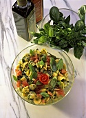 Pasta salad with basil (Italy)