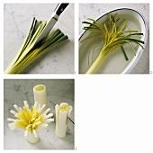 Making leek flowers
