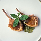Lamb Chops with Mint Jelly