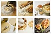 Preparing calzone