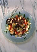Poultry Salad with Melon & Sesame Seeds