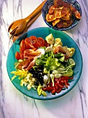 Salad with Vegetables and Prosciutto