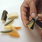 Turning vegetables