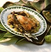 Palatine style pheasant (with Riesling and sauerkraut)