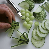 Cucumber garnishes