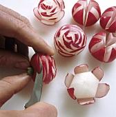 Making radish roses