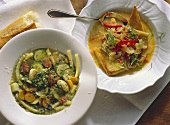 Acquacotta & minestrone (two vegetable soups, Italy)