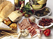 Assorted appetisers (Italy)