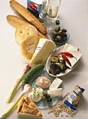 Ingredients for Greek Appetizers