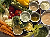 Assorted Sauces & Dips for fresh Vegetables
