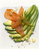 Avocado Fan with Smoked Salmon