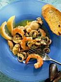 Insalata di mare alla livornese (seafood salad, Italy)