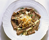 Beef Salad with Vegetable Julienne