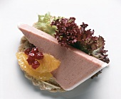 Smorrebrod with Liver Terrine on Lettuce Leaf