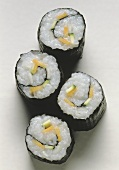 Nori Maki with Radish; Carrot & Zucchini