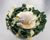 Poached Eggs Florentine-style