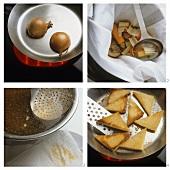 Making Zuppa pavese