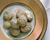Almond Macaroons with Powdered Sugar