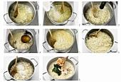 Preparing risotto